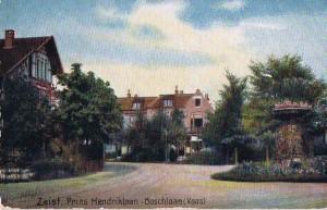 Prins Hendriklaan hoek Boschlaan anno 1918