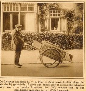 Huydecoperweg 23  villa Vijverzicht  anno .... koopman Flier  Berichtje uit het blad Utrecht in Woord en Beeld. op de achtergrond . Coll. Oud Seyst