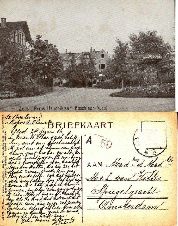 Prins Hendriklaan - 1916