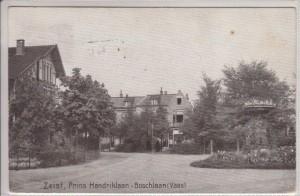 Prins Hendriklaan  hoek Boschlaan met vaas anno 1918