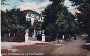 Prof Lorentzlaan Het Mooie laantje met hotel Boschlust anno 1917