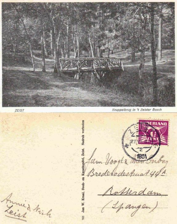 Zeister Bosch - 1931 - De Knuppelbrug