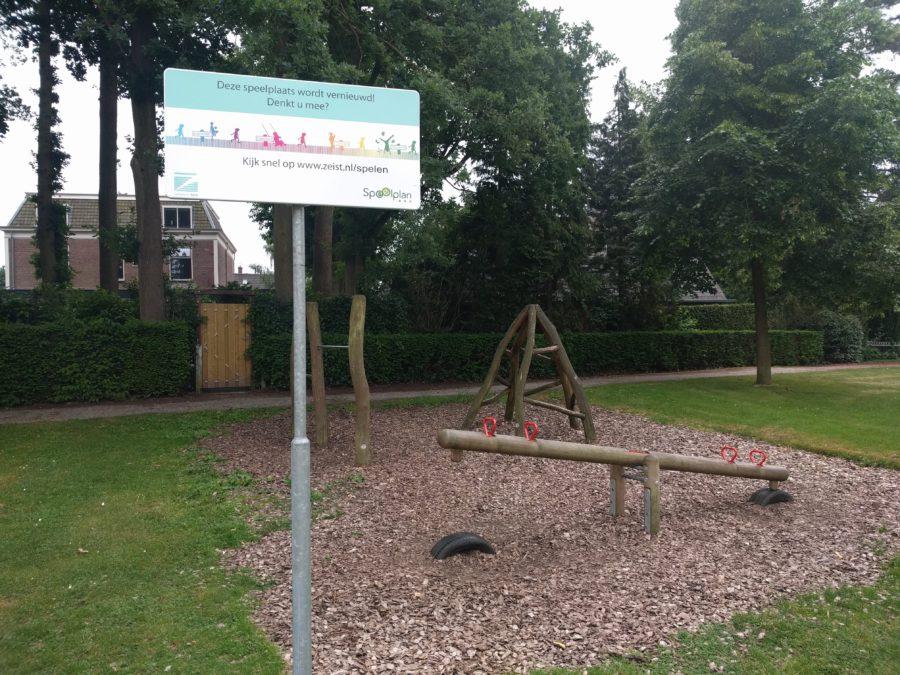 Het speeltuintje in het Wilhelminapark wordt vernieuwd