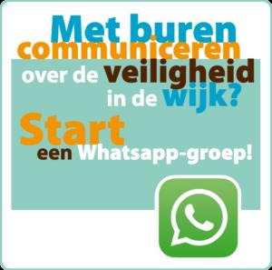 whatsapp buurtpreventie flyer